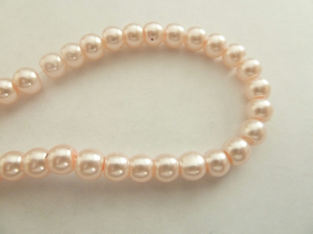 SALE pink glass pearls