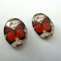 HALF PRICE butterfly cabochons