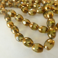 yellow and gold beads