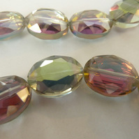green and purple glass beads