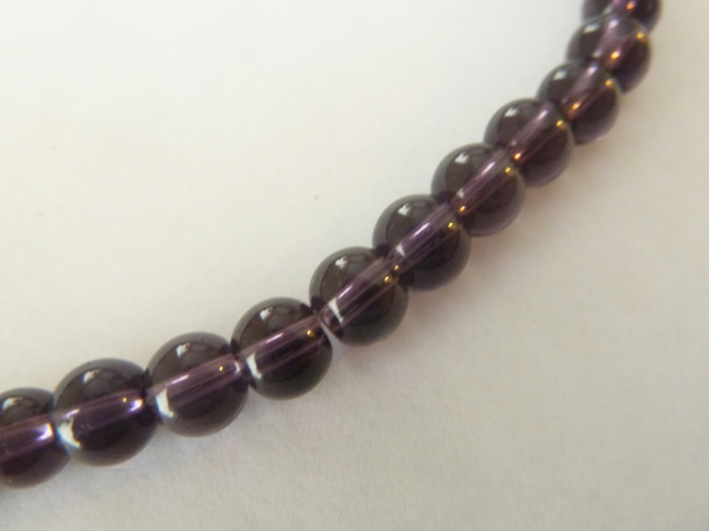 purple 6mm glass beads