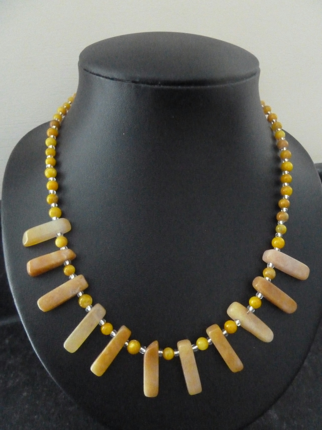 SALE yellow stone necklace