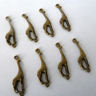 SALE 8 bronze giraffe connectors