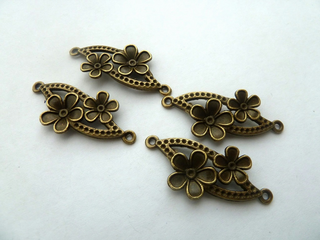 bronze flower connectors