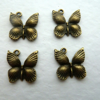 bronze butterfly charms
