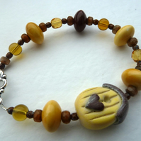 SALE yellow bird house bracelet
