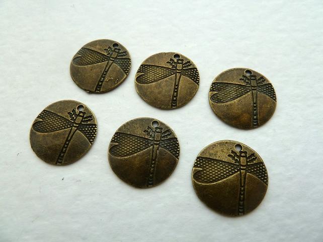 bronze dragonfly coin charms