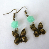SALE butterfly earrings