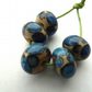 blue spot handmade lampwork glass beads