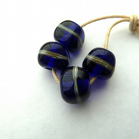 blue nugget handmade beads