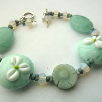 lily and amazonite bracelet
