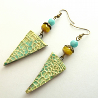 ceramic triangle earrings