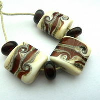 amber wrapped beads