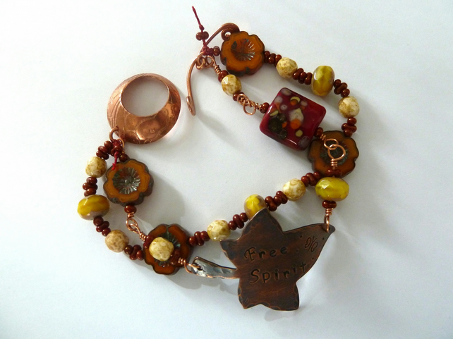 free spirit copper bracelet