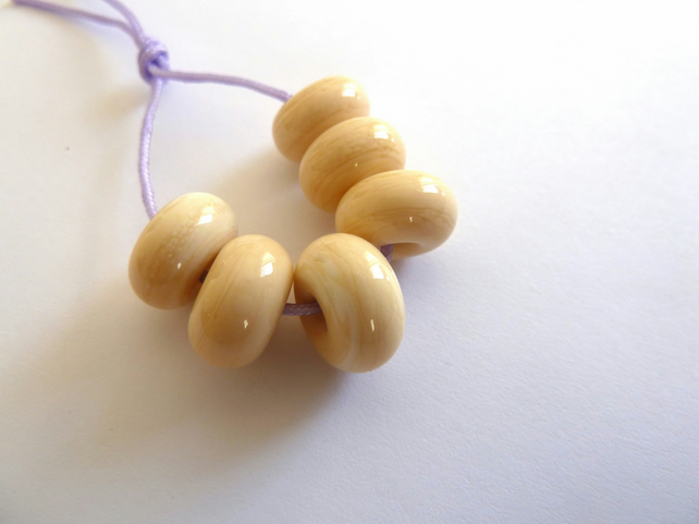 ivory spacer lampwork glass beads