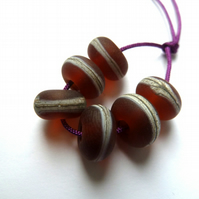 brown lampwork glass beads