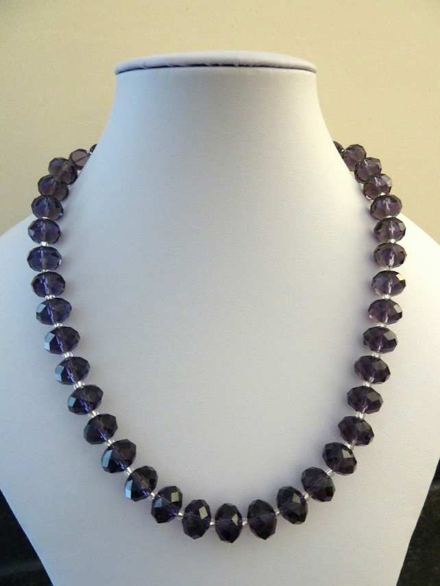 purple sparkle necklace