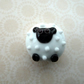 handmade lampwork sheep bead