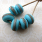 handmade lampwork blue glass beads