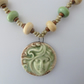 copper, lampwork and ceramic necklace