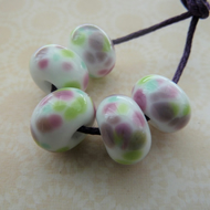handmade lampwork lilac frit glass beads