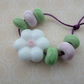 handmade lampwork glass flower bead set