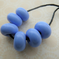 handmade lampwork glass blue spacer beads