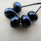 black and silver firt lampwork glass beads