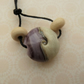handmade lampwork purple sand focal bead