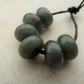 handmade lampwork grey glass spacer beads