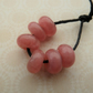 handmade lampwork glass beads, pink spacer beads