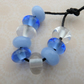 blue mix lampwork glass spacer beads