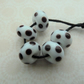 handmade lampwork white and black spot bead set