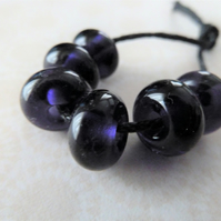 purple lampwork glass spacer beads