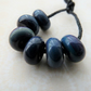 blue and purple lampwork glass spacer beads