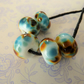 lampwork glass blue frit beads