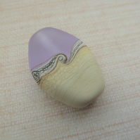 lampwork glass lilac frosted focal bead