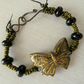 black and gold ceramic butterfly bracelet