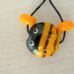 lampwork glass bee bead