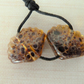 lampwork glass sea shell beads