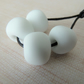 white tumbled nugget lampwork glass beads