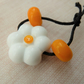 daisy lampwork glass flower bead