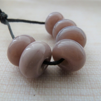 violet spacers handmade lampwork glass beads