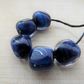 blue reactive lampwork glass nuggets