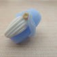 lampwork glass blue gnome bead