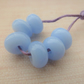 blue spacer lampwork glass beads