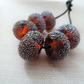 amber stardust lampwork glass beads