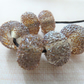 silver star dust lampwork glass beads