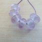 lilac spacers lampwork glass beads