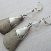 sterling silver lever back earrings